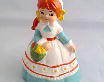 Inarco Dutch Girl Planter- Ceramic Vintage Planter - Inarco Ceramic Vintage Planter