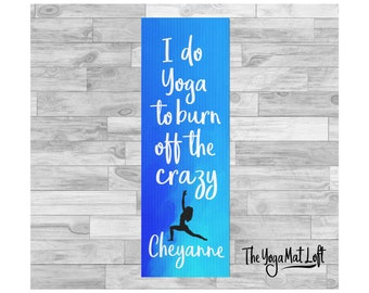 Printed Yoga Mat, Personalized Yoga Mat, Custom Pilates Mat, Personalized Exercise Mat, Custom Yoga Mat, Yoga Lover Gift, Birthday Gift