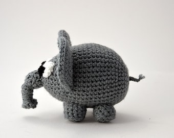 Elephant Crochet Pattern, Elephant Amigurumi Pattern, Crochet Elephant Pattern, Animal Crochet Pattern, Animal Amigurumi, Zoo Animal Pattern