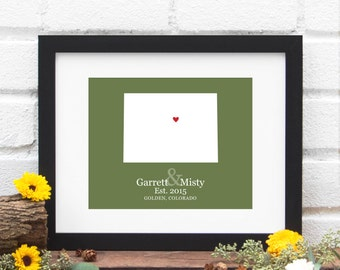 Colorado State Map Art, Colorado Map, Colorado Poster, Colorado State Print, Housewarming Gift, Wedding Gift, Anniversary Gift -  Print
