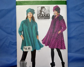 Simplicity 1719 Sewing Pattern,Patty Reed Coat and Hat, Size XXS - XL