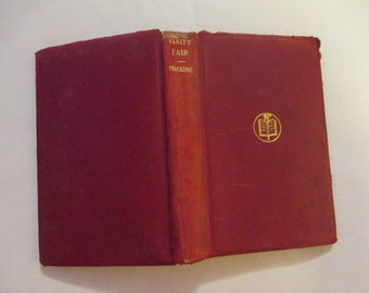 1948 Red Leather Vanity Fair by William Makepeace Thackeray, A Novel Without a Hero, Classic Novel, Red Leather Binding, Victorian Novel