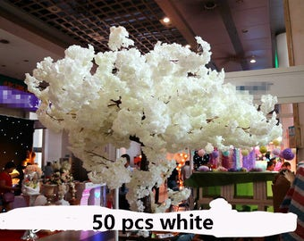 "5pcs Length 108cm/42.52"" Artificial Simulation Silk Cherry Blossom Wedding Decoration Flowers Sakura Spring"