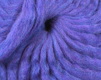 Blueberry wool roving for needle felting, spinning, weaving, locker hooking