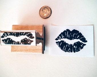 "Stamp - Lifesize Kiss Lips Print, 1.75""x1.25"""