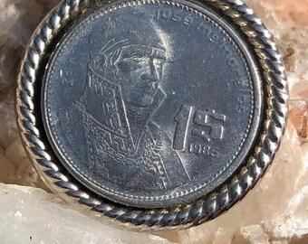 1986 Peso Coin Pendant
