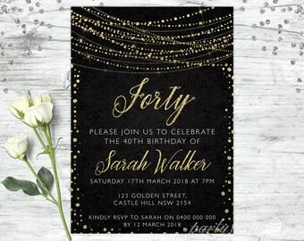 40th birthday invite etsy 40th birthday invitations 40th birthday personalised 40th invitation 40th birthday invite birthday filmwisefo