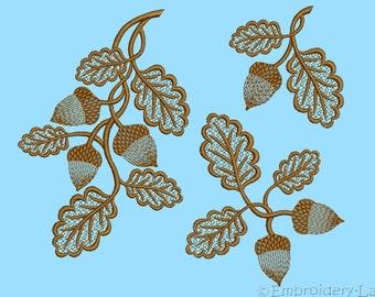 Acorns 0001 set - machine embroidery designs