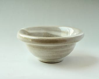 Hand thrown bowl from the pottery wheel