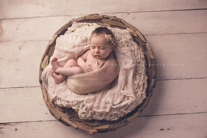Newborn Photos In Basket