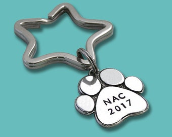 2017 Akc National Championship NAC NOC RNC Key Ring or Crate Tag - Hand Stamped Pewter