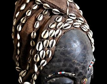 Ethnographic Art Image Series / Portrait of Kuba Ngaady Mwaash Mask / Tribal Art–African Art / High Res Print / Fine Art Photography
