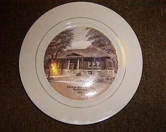 Chariton Public Library Collectors Plate Chariton Iowa