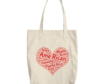 A me Rican , Puerto Rican  Puerto Rico classic tote bag