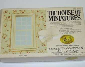 The HOUSE OF MINIATURES Window 1-1 Doll House Furniture