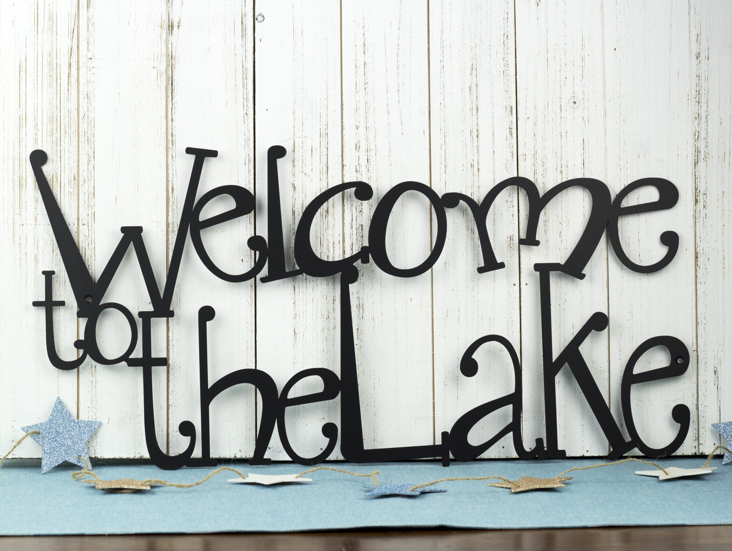 Welcome to the lake metal sign lake house decor metal wall for House sign designs