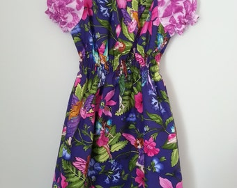 Gorgeous Purple nd pink Fairy peasant dress with size 4