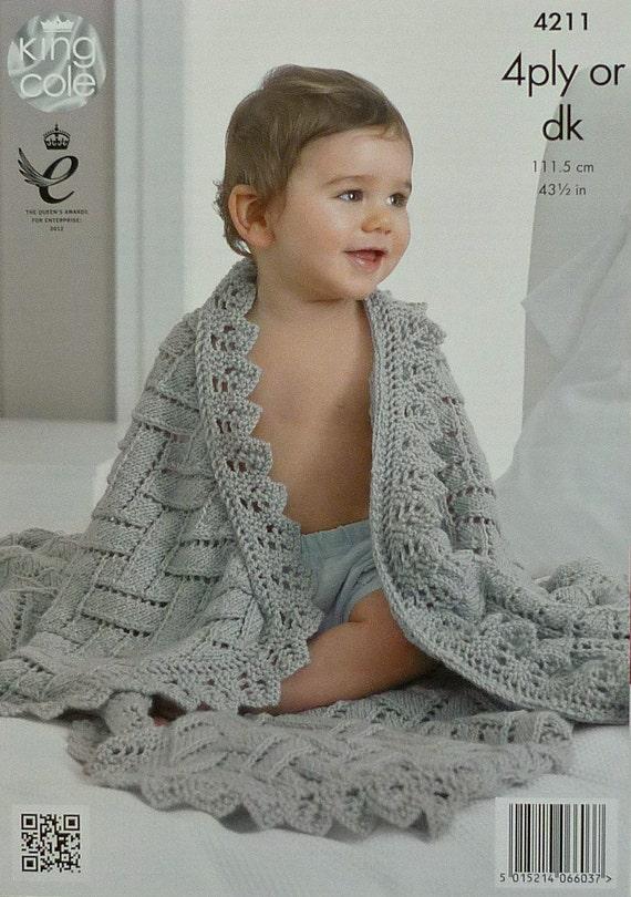 Babydecke Stricken Muster K4211 Babys einfach Spitze