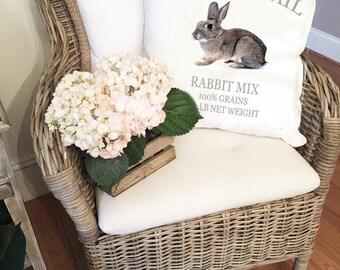 Easter Pillow Cover - Rustic Pillow - Farmhouse Pillow Cover - - Spring Pillows Cover - Farmhouse Decor - Nursery Decor