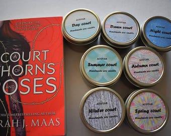 Book theme tin candles