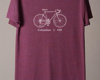 Columbus bike tee, Columbus tshirt, Columbus Ohio tee, midwest is best