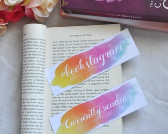 Rainbow bookmark, Personalised bookmark, Currently reading, Currently reading bookmark, Bookstagram, Bookstagram bookmark, Custom bookmark