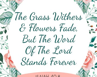 Isaiah 40:8 | 2018 Weekly Planner
