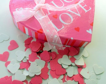 500 Count-Bridal Shower Decorations-Wedding Shower Decor-Pink Heart Confetti-Paper Hearts-Small Heart die cuts-Sweet 16 Party-Little girls