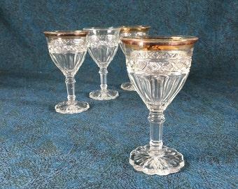 Vintage Zipper Glass Liqueur Cordials, Set of 4