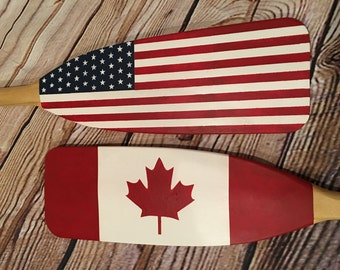 Oars Painted Flags - Nautical Decor - Country Flags - Personalize