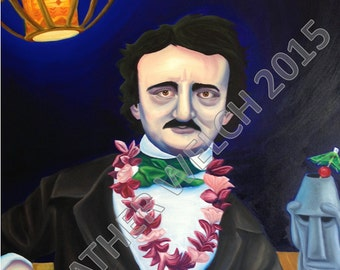 "Art Print ""Poe Escapes"" by Heather Welch"