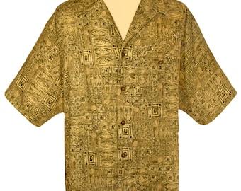 Mens Shirt, Short Sleeve Shirt, Tropical Shirt, Woolrich Shirt, Casual Shirt, Button Down Collar Shirt, Outdoors, Sportswear- Made in Peru L