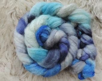 bfl sw nylon,Winterwind, Sock blend top,handdyed fiber for spinning, ca.3,5oz