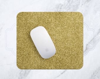 Gold Glitter Mouse Pad