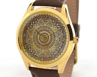 Mandala Women's Watch | Bohemian | Mother's Day Gift | Boho Jewelry | Gifts For Women | Boho Style Watch | Tribal Jewelry | FREE SHIPPING