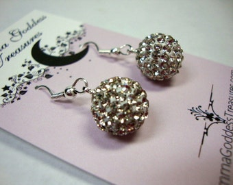 Clear Crystal Earrings Formal Occasion Bridal Wedding Jewelry