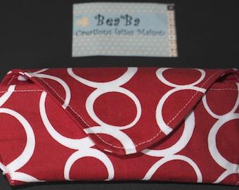 Red fabric glasses case model VULCANO