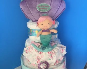 Baby Gund Mermaid Diaper Cake