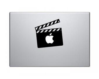 Movie Clapperboard laptop decal, MacBook, Apple, Cool sticker