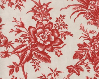 Moda SNOWBERRY PRINTS Quilt Fabric 1/2 Yard By 3 Sisters - Snow/Berry 44140 12
