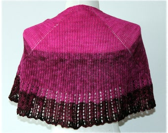 Knitted and Beaded Wool Shawl