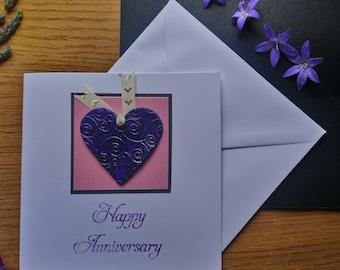 Happy anniversary handmade card