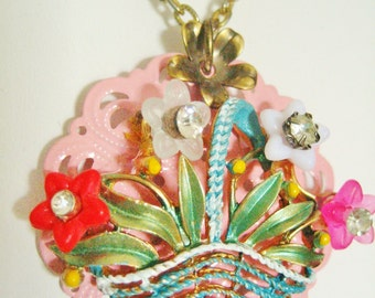 Upcycled Bountiful Bouquet Necklace