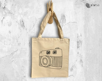 Photo Machine Tote Bag  • Typographic Design • Funny Cotton Canvas Tote Bag • Christmas Gift • Gift for her • Cotton Bag • Canvas Bag
