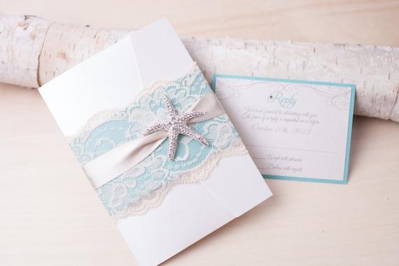Destination Wedding Invitations Etsy: SANDY: Beach Wedding Invitation