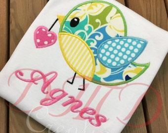 Bird with Heart  shirt