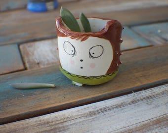 Ceramic Planter Hedgehog Planter Desk Planter Succulent Planter Best Friend Gift Planter Decor Gardening Gift Small Planter