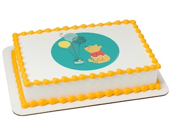 Winnie the Pooh First Birthday Edible Cake Topper