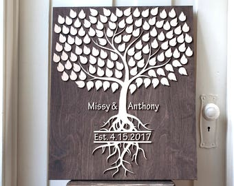 Personalized Guest signing Book | Alternative Wedding Guest Book | 3d Wood Tree Guest Book | wedding singing Guestbook |