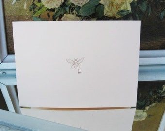 Blush Pink Bee Note Cards